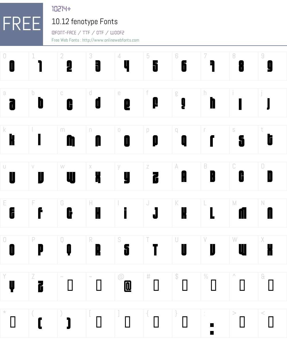 10.12 Font Screenshots