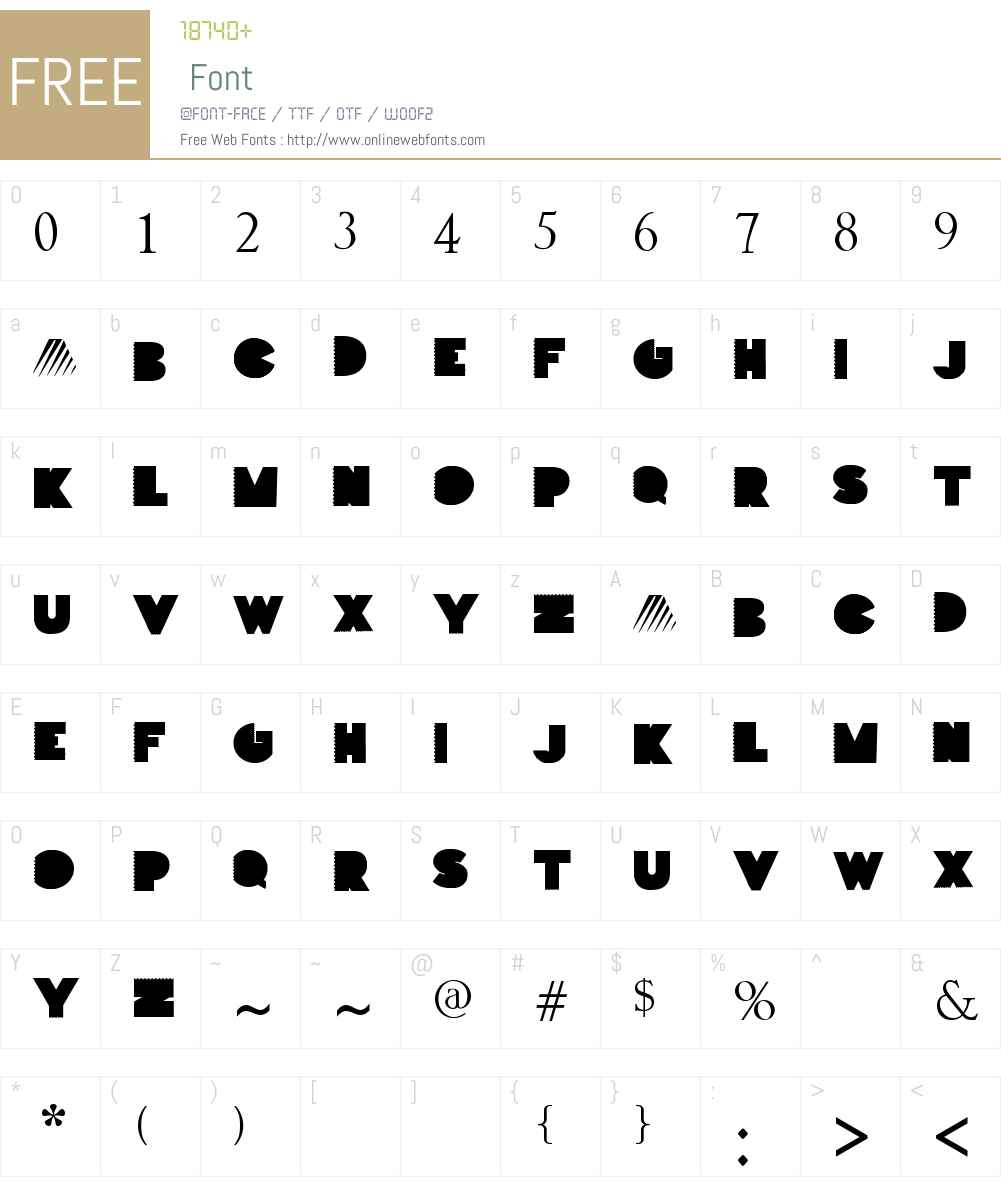 PARTOFME Font Screenshots