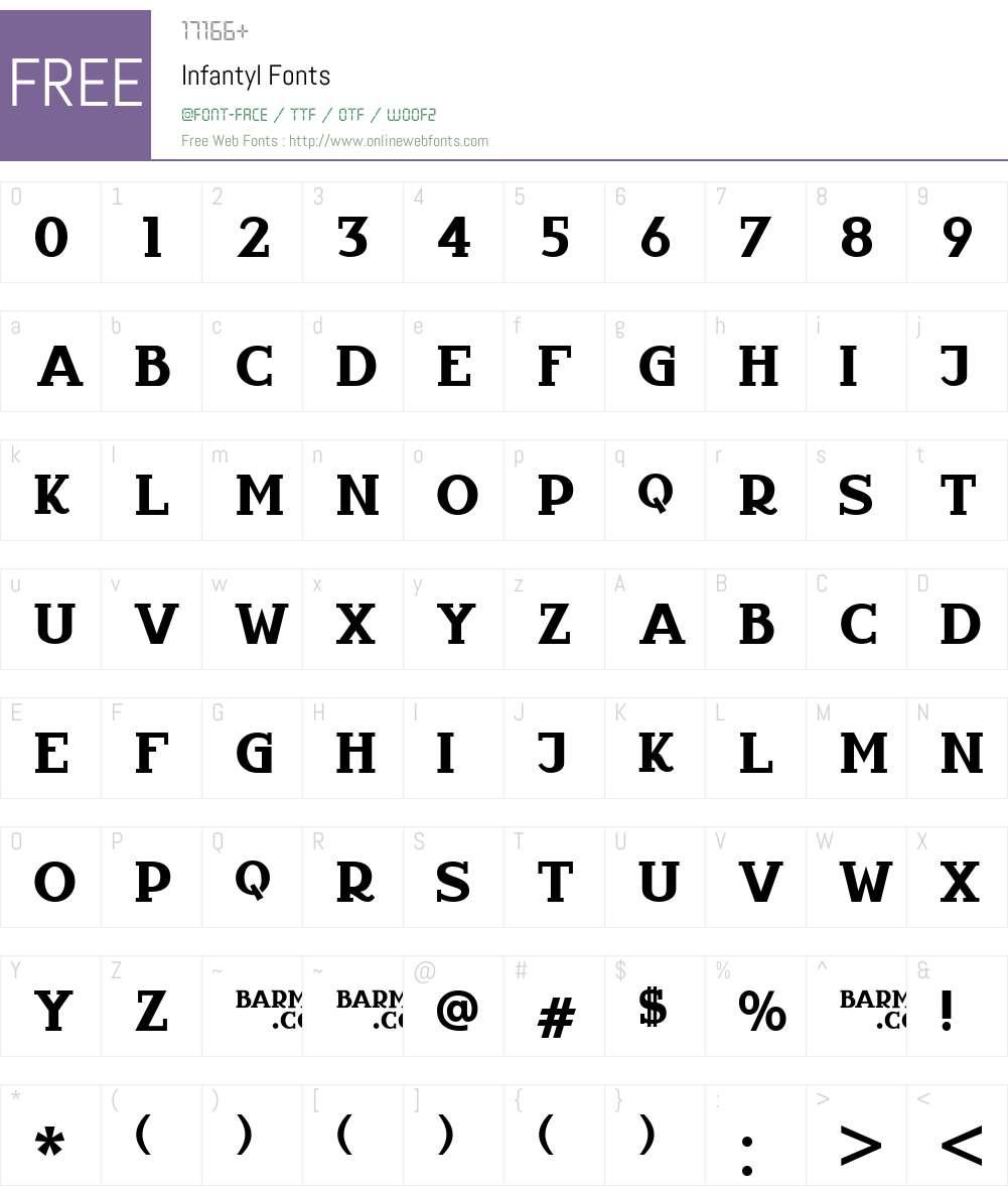 Infantyl Font Screenshots