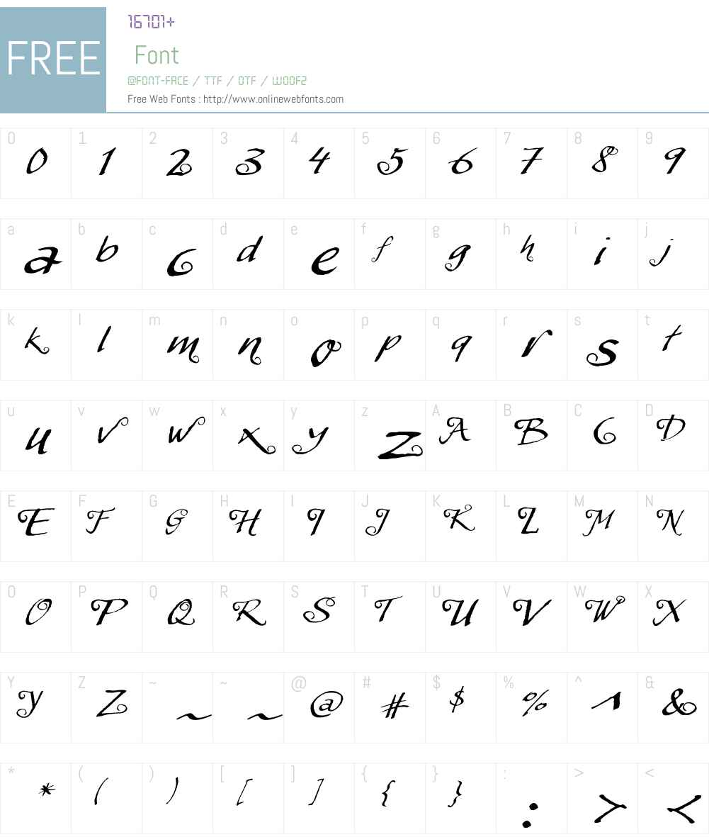 MyScriptW01-Swashes Font Screenshots