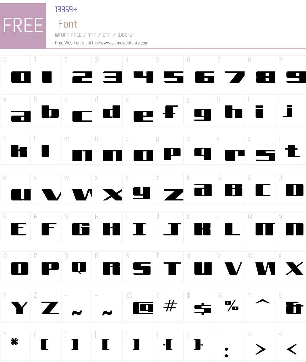 Freeline Font Screenshots