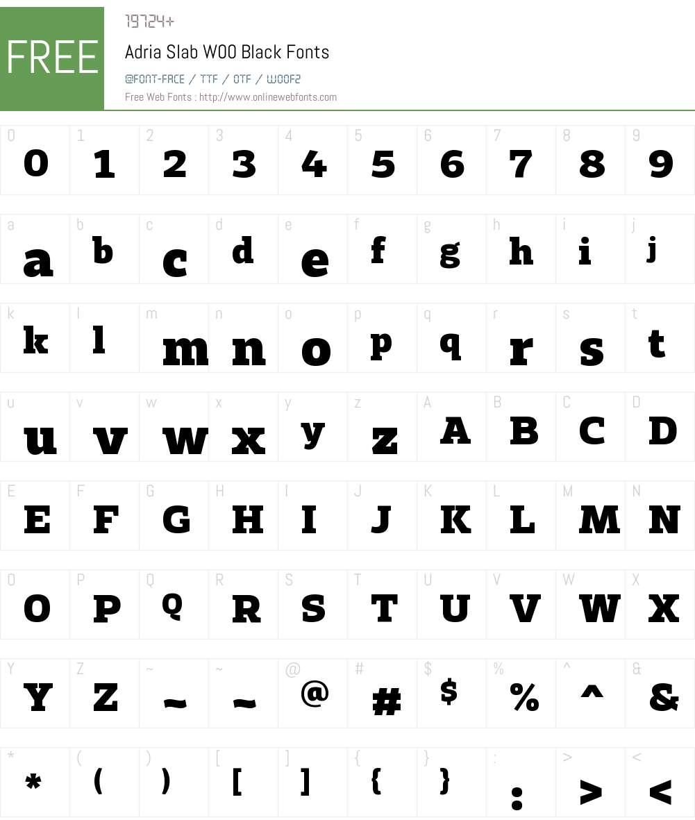 AdriaSlabW00-Black Font Screenshots