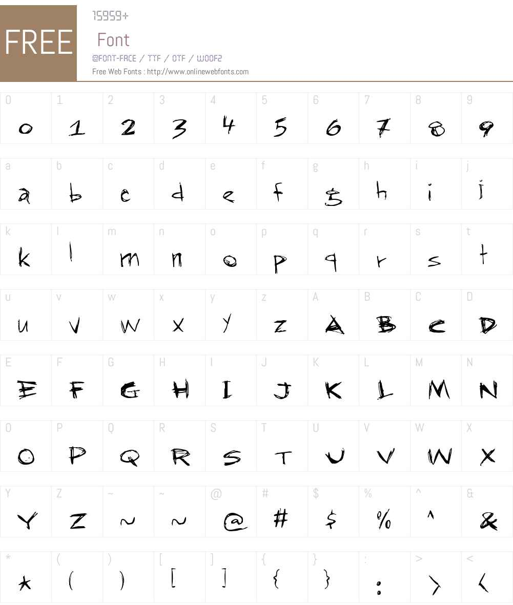 RapJack Font Screenshots