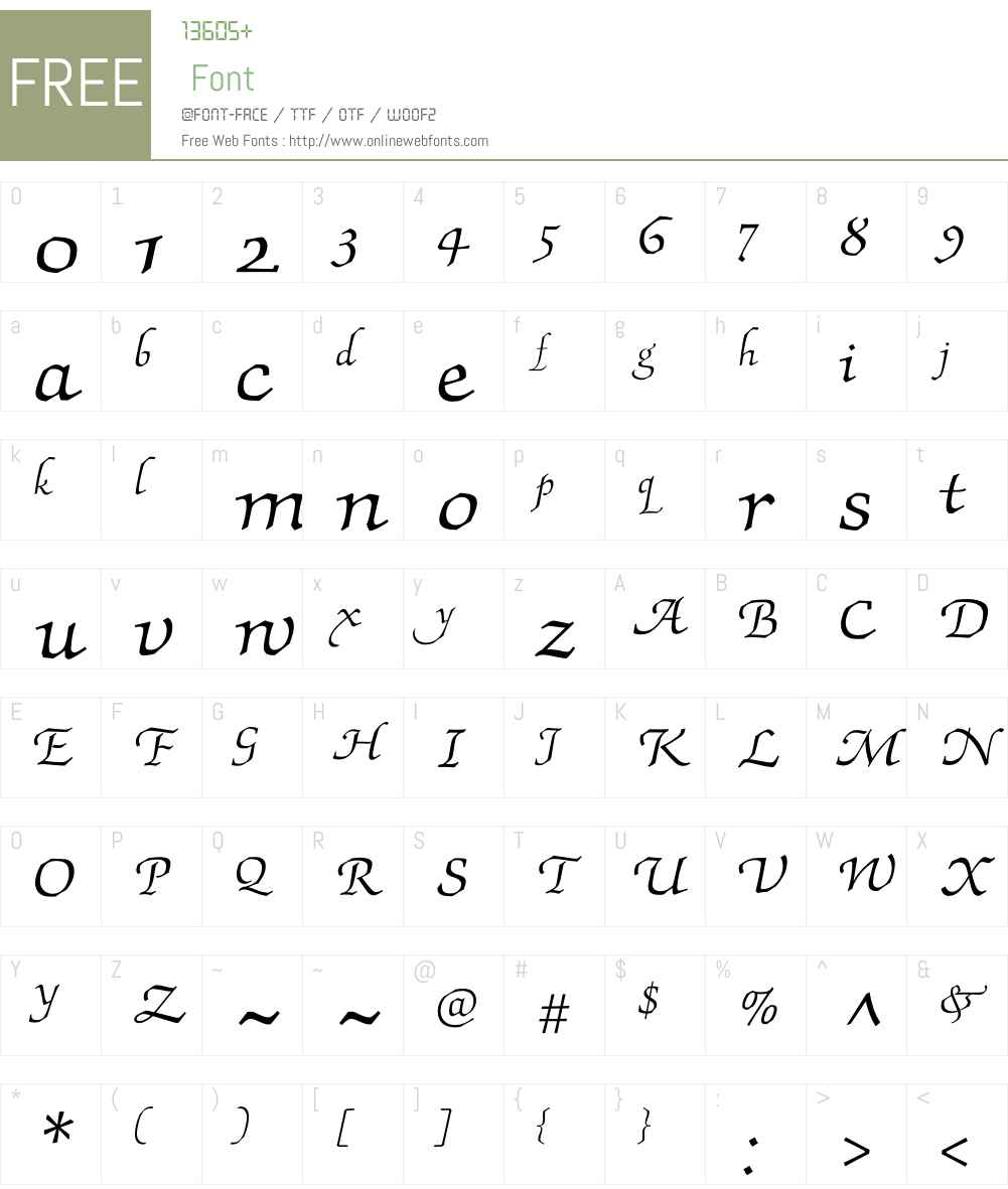 Silesiana Font Screenshots