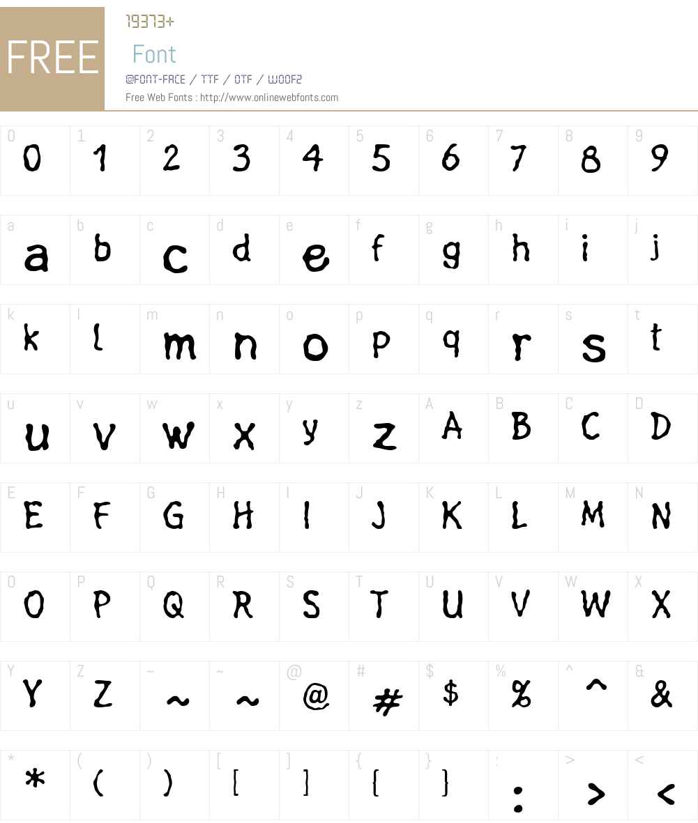 FluxusLTW01 Font Screenshots