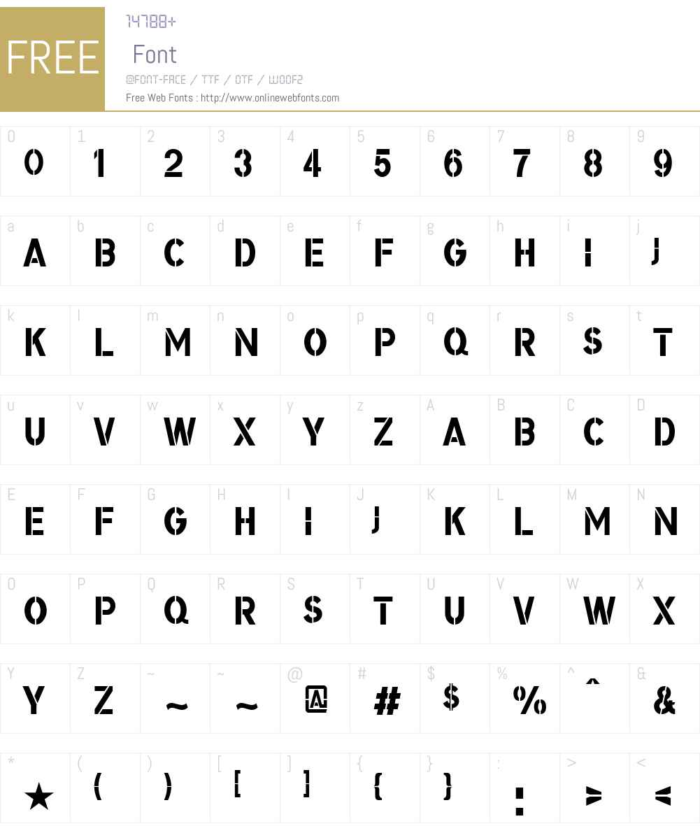 BomberTVW03-Regular Font Screenshots