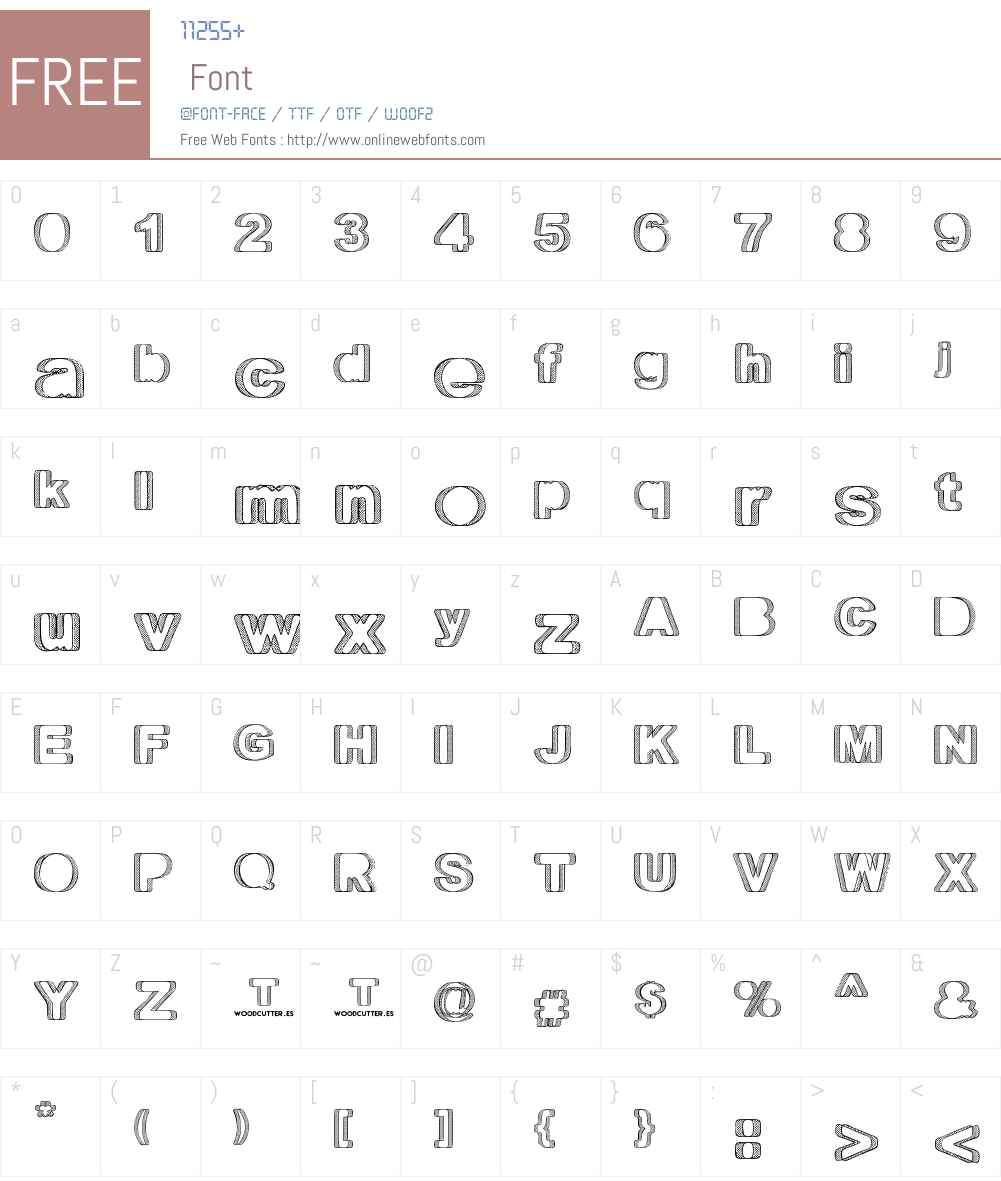 Territorio Font Screenshots