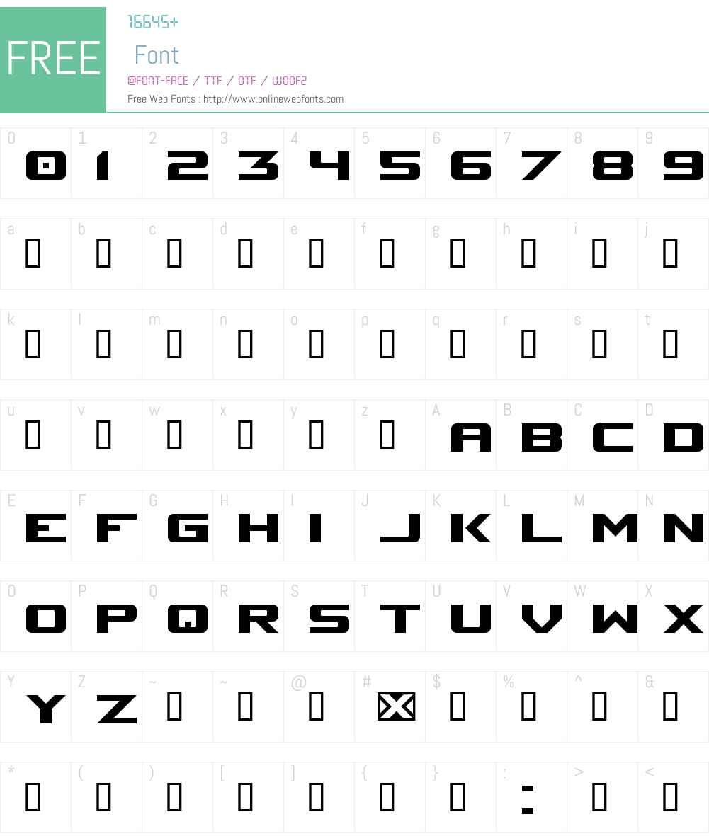 Space Marine Font Screenshots