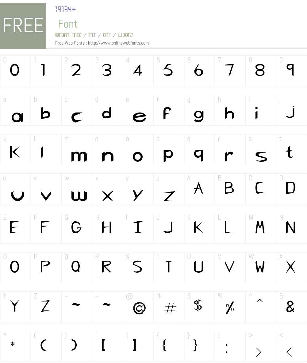 RSCharlieChan Font Screenshots