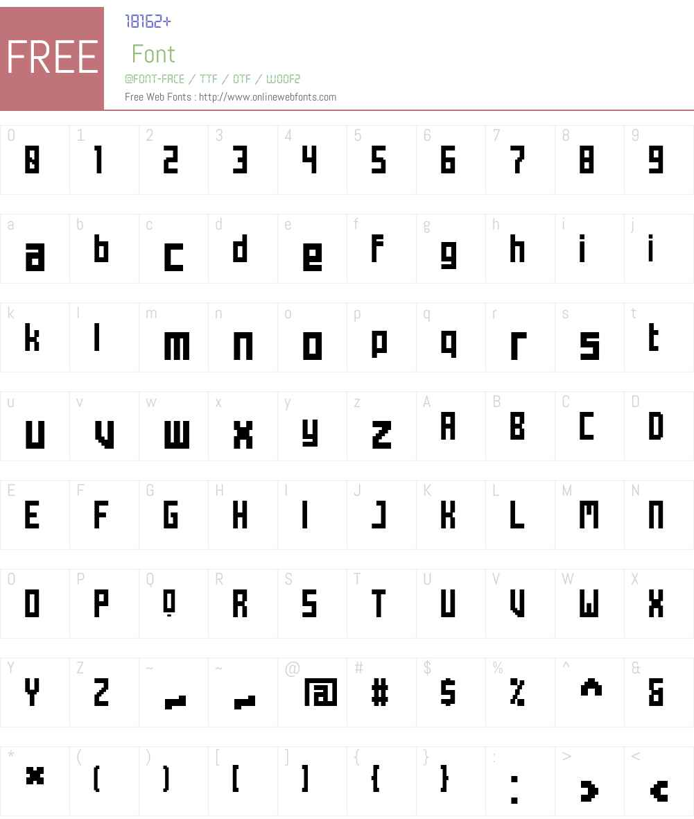 Mecha Font Screenshots