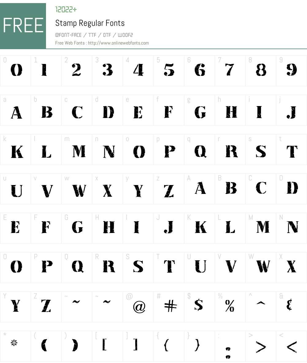 Stamp Font Screenshots