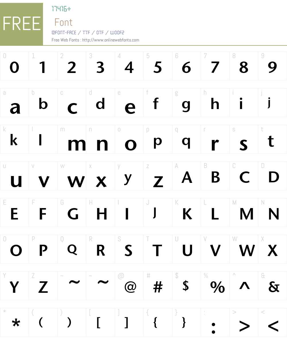 StoneSansEF Font Screenshots