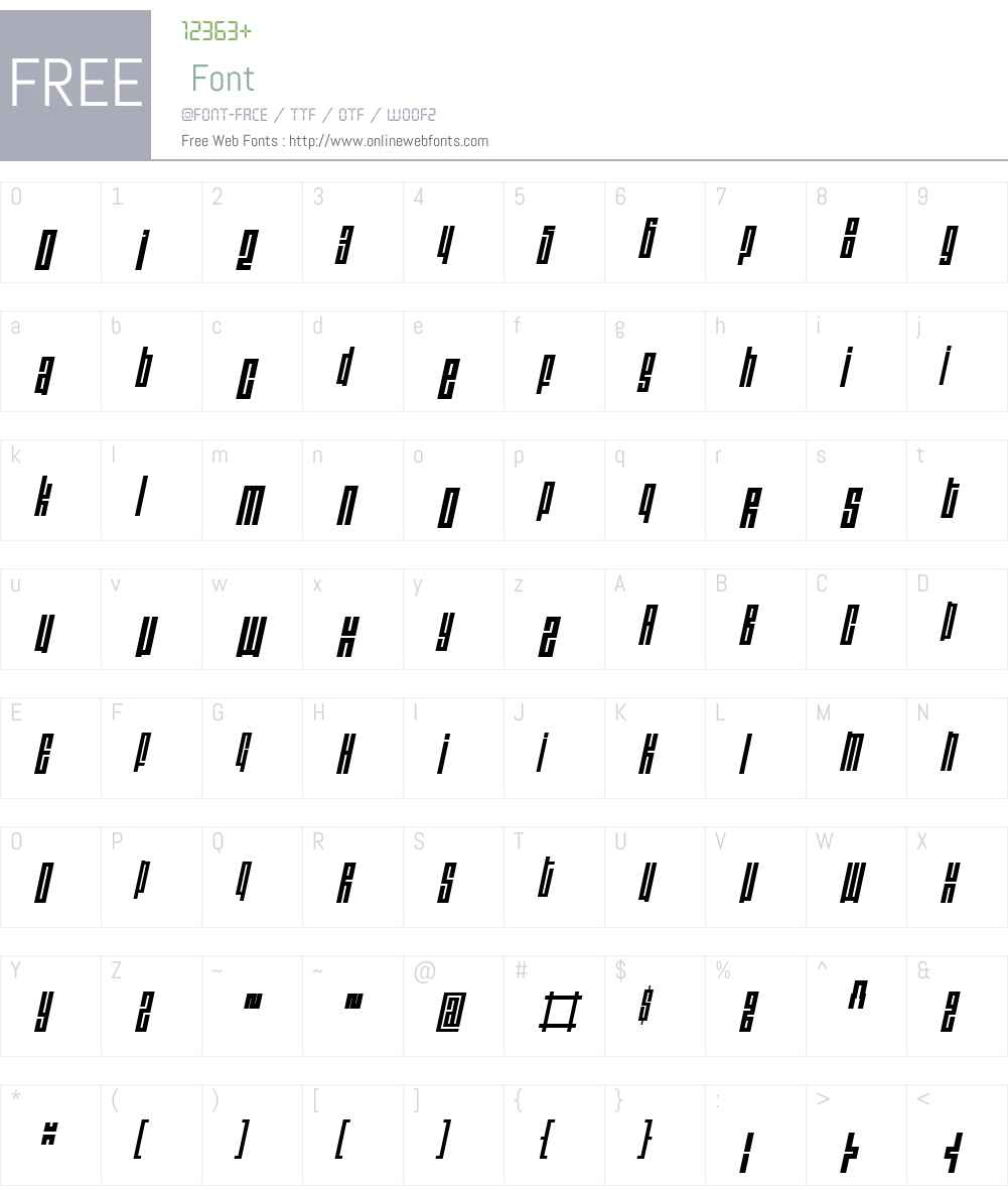 ThomasW00-LightObl Font Screenshots