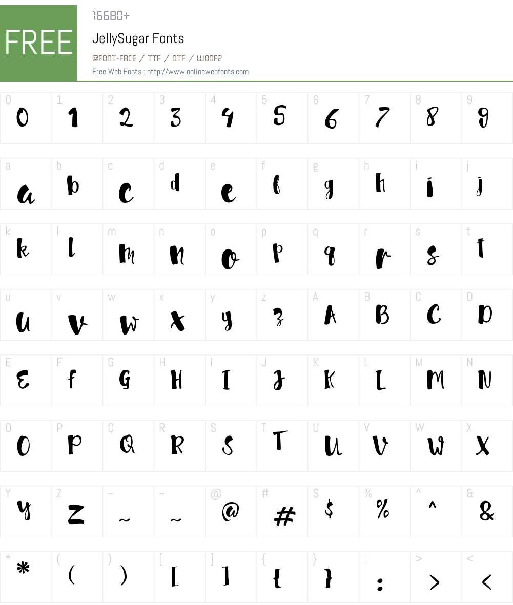 JellySugar Font Screenshots