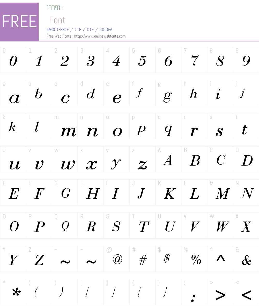 Rothni-Normal-Italic Font Screenshots