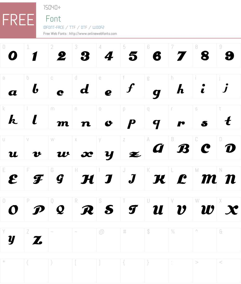 Estenotype Font Screenshots