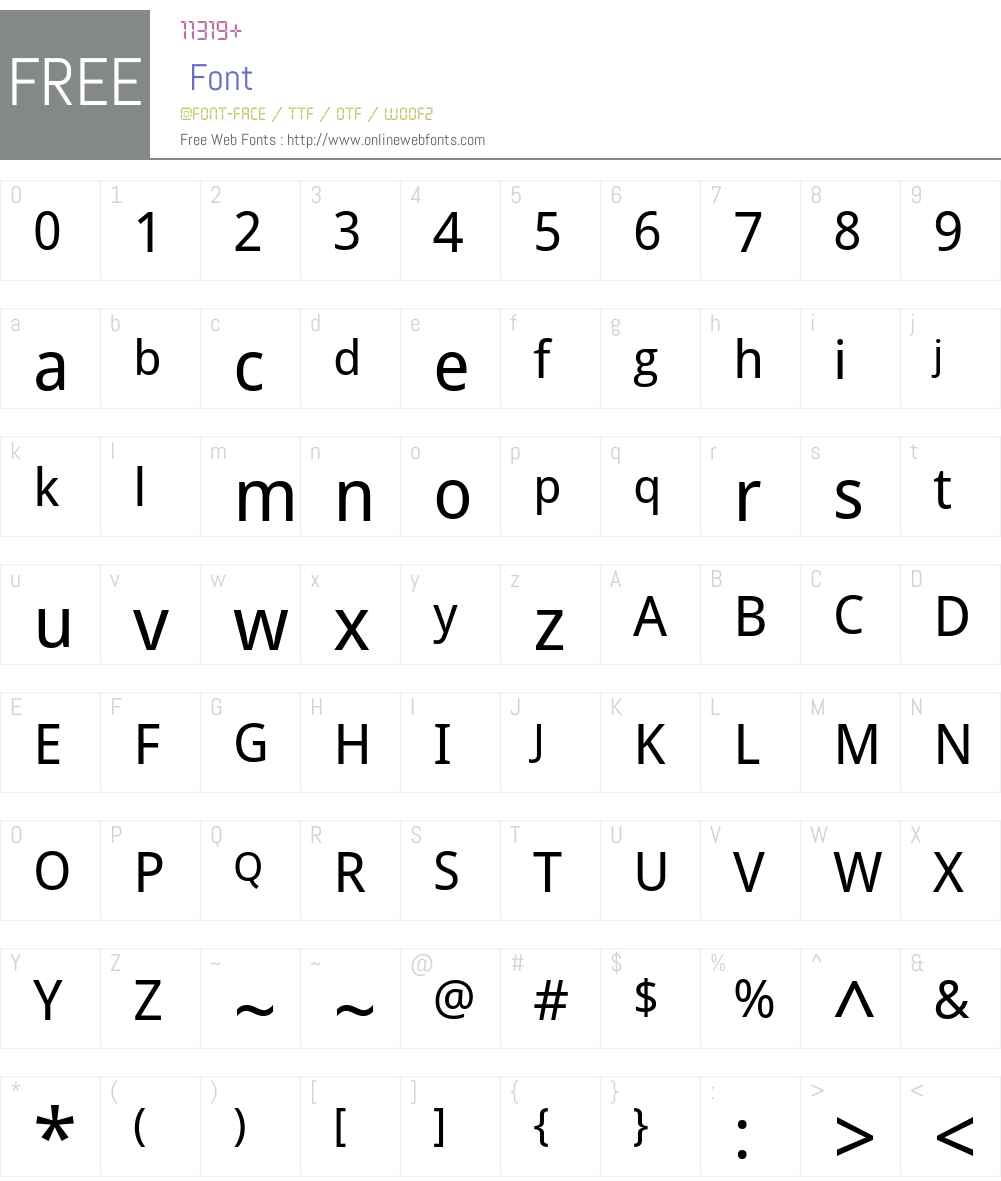 Droid Sans Font Screenshots