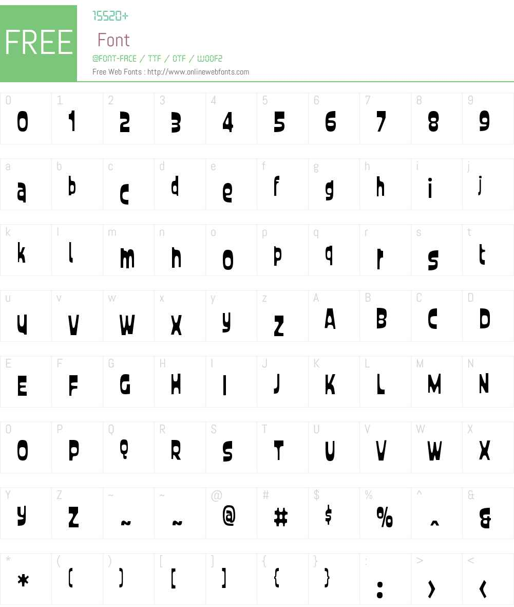CustardW00-Condensed Font Screenshots