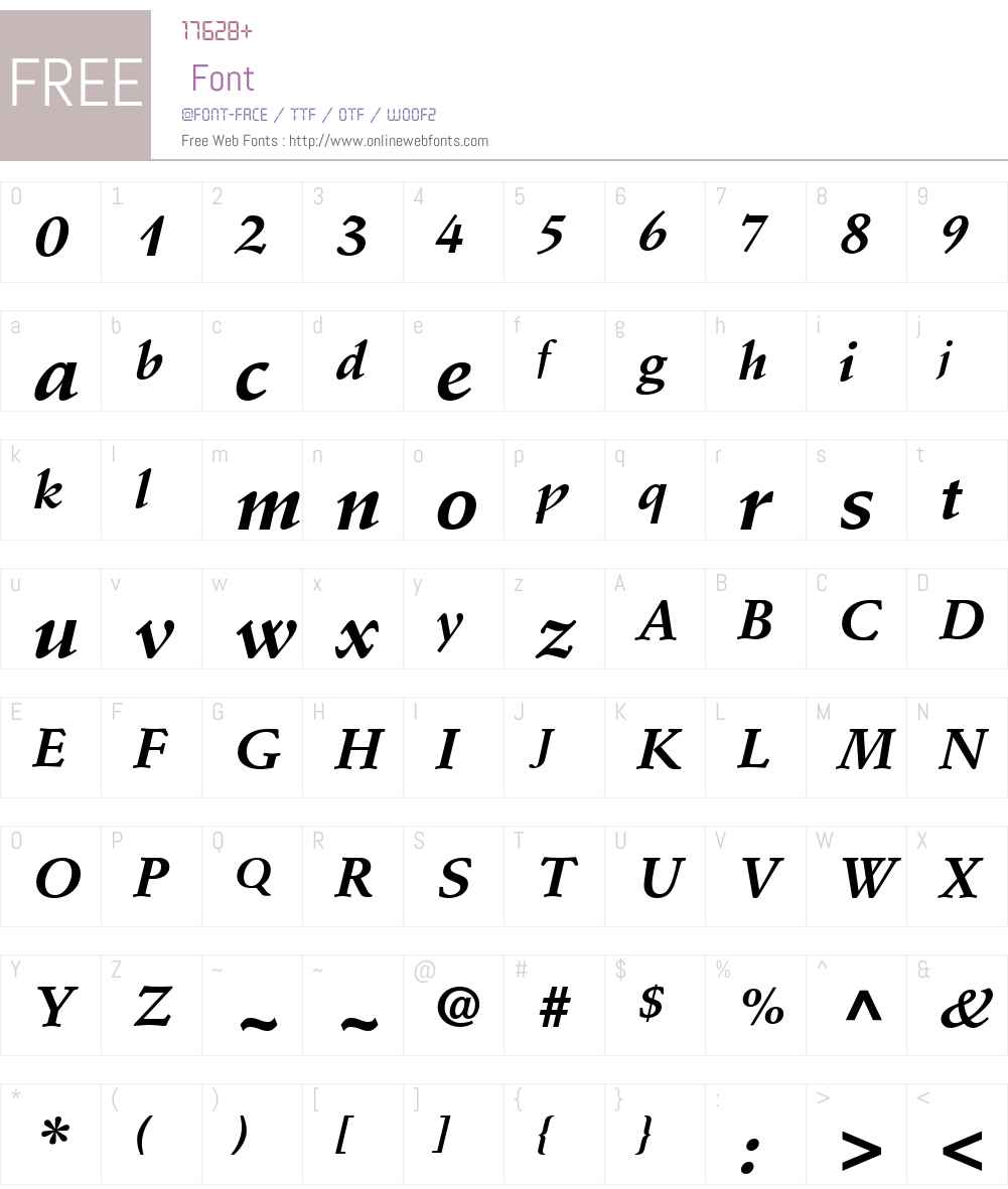 Deutch SSi Font Screenshots