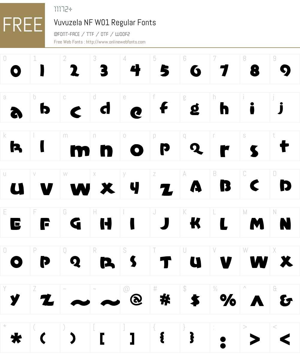 VuvuzelaNFW01-Regular Font Screenshots