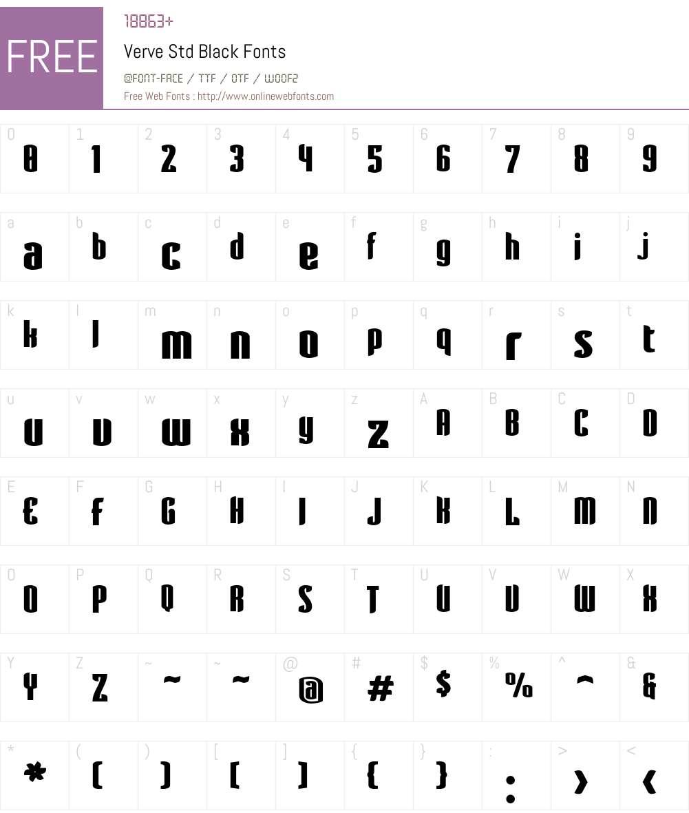 Verve Std Font Screenshots