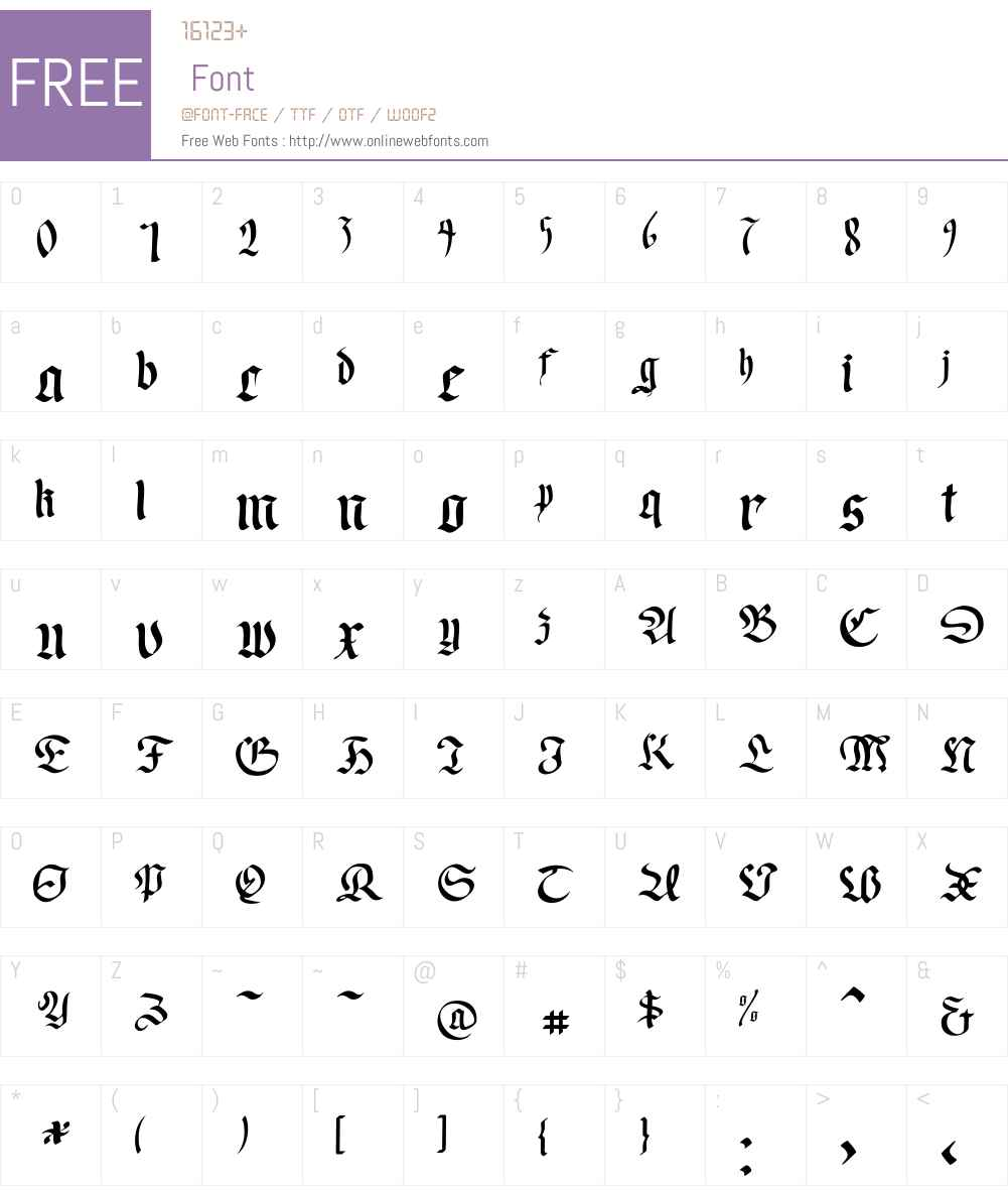 WrittenFrax Font Screenshots