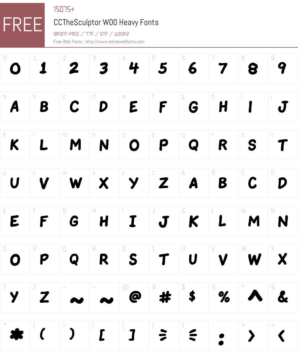 CCTheSculptorW00-Heavy Font Screenshots