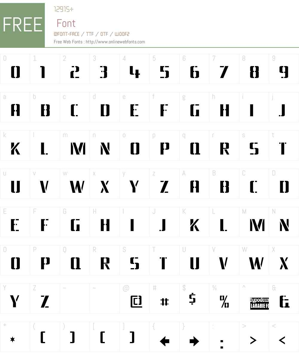Braeside Lumberboy Font Screenshots