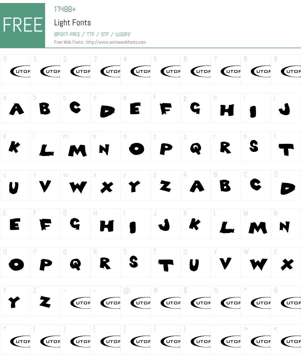 Light Font Screenshots