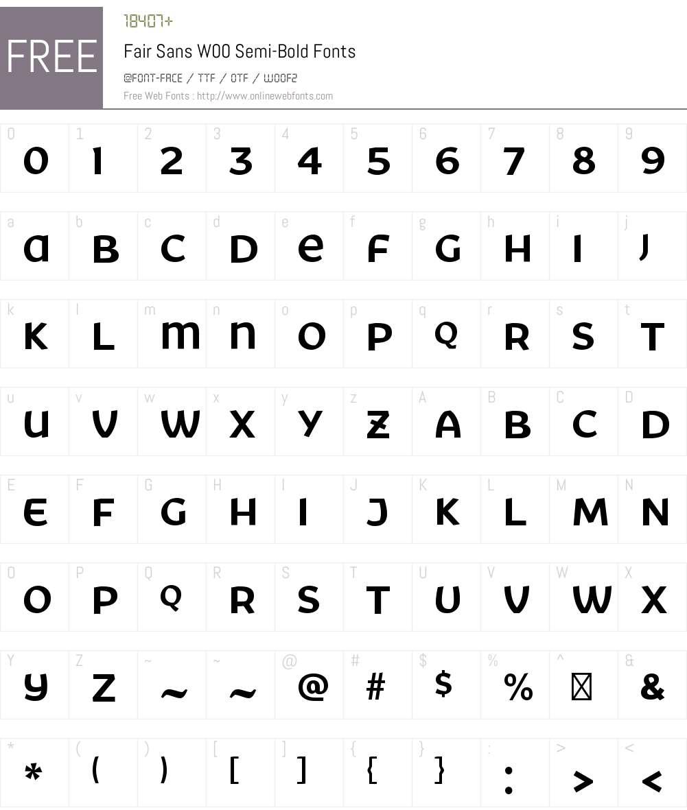 FairSansW00-Semi-Bold Font Screenshots