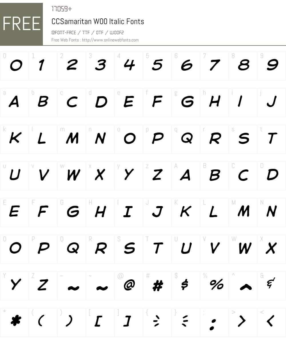 CCSamaritanW00-Italic Font Screenshots