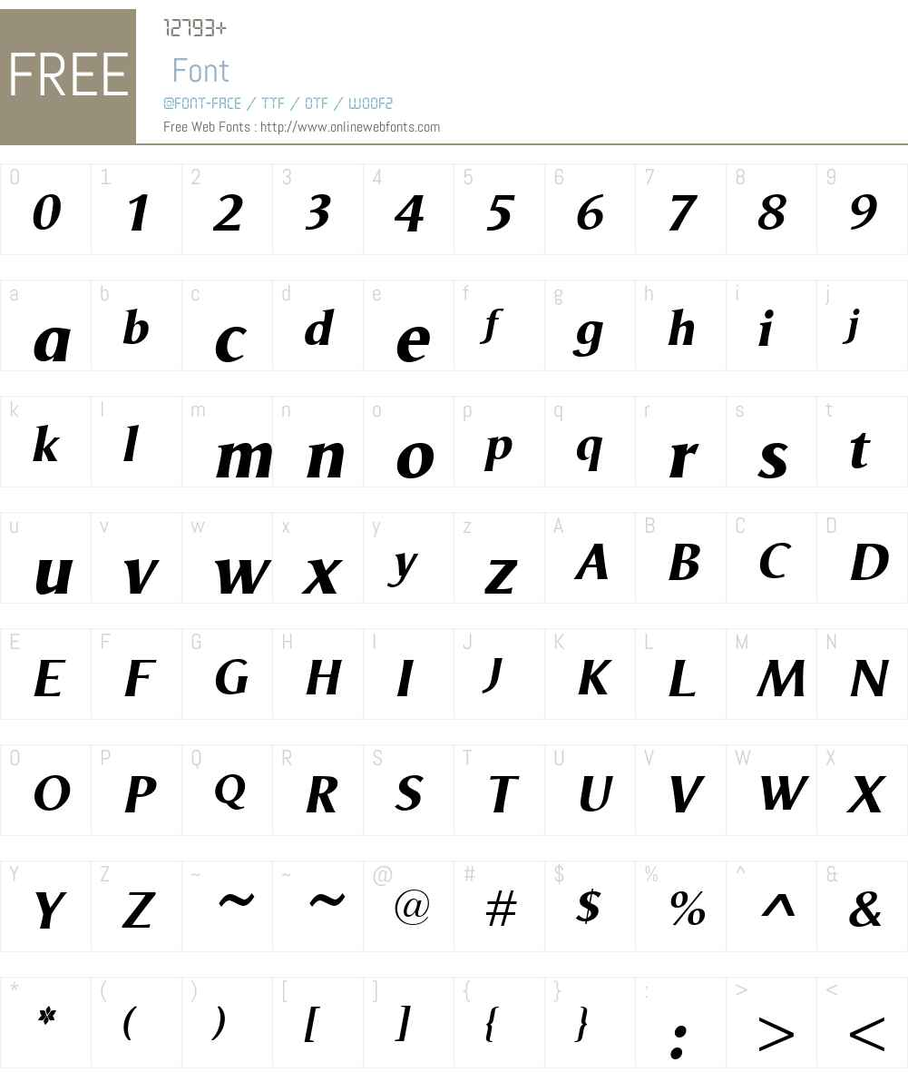OdenseW00-ExtraBoldItalic Font Screenshots