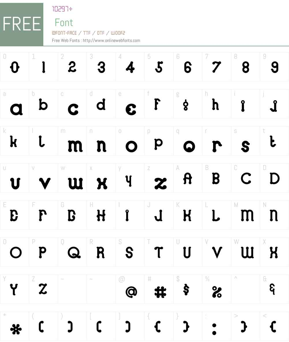 Looper Font Screenshots