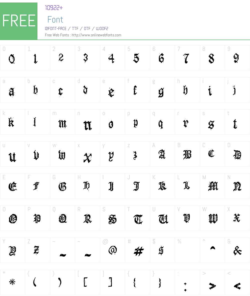 Dioszeghiensis Rg Font Screenshots