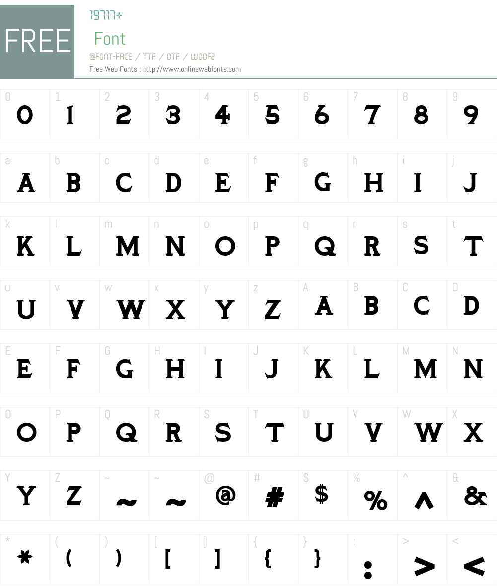 Ozymandias Solid WBW Font Screenshots