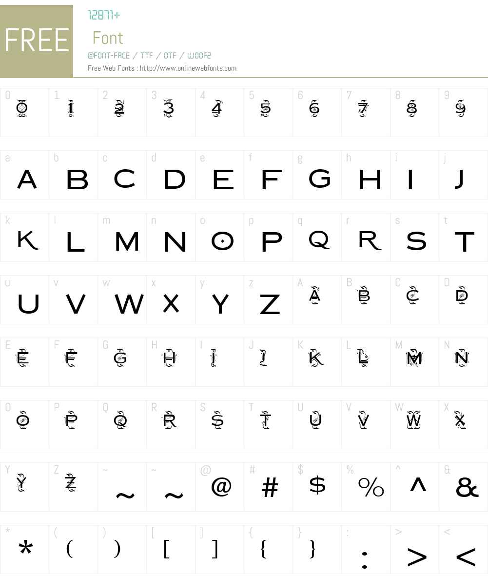 CopperplateDecoW01-MedSans Font Screenshots