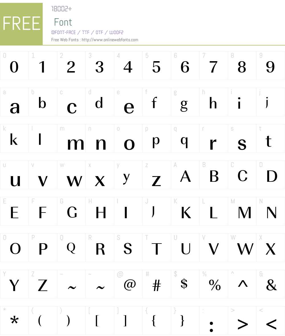 URWImperialW01-Medium Font Screenshots