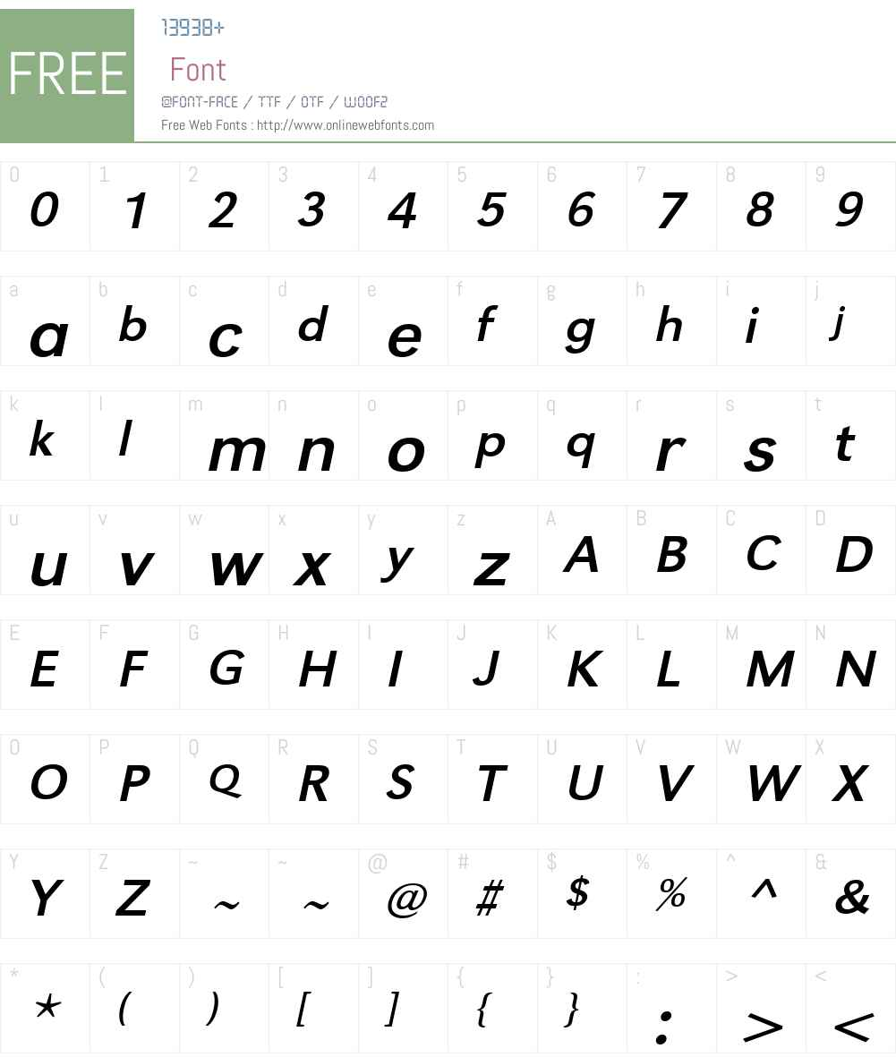 URWGroteskTWid Font Screenshots