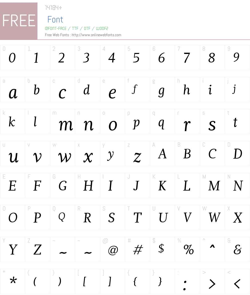DoricaW01-RegularItalic Font Screenshots