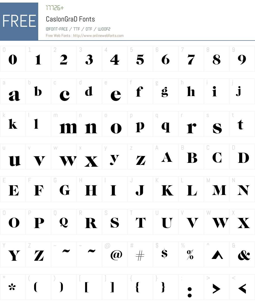 CaslonGraD Font Screenshots