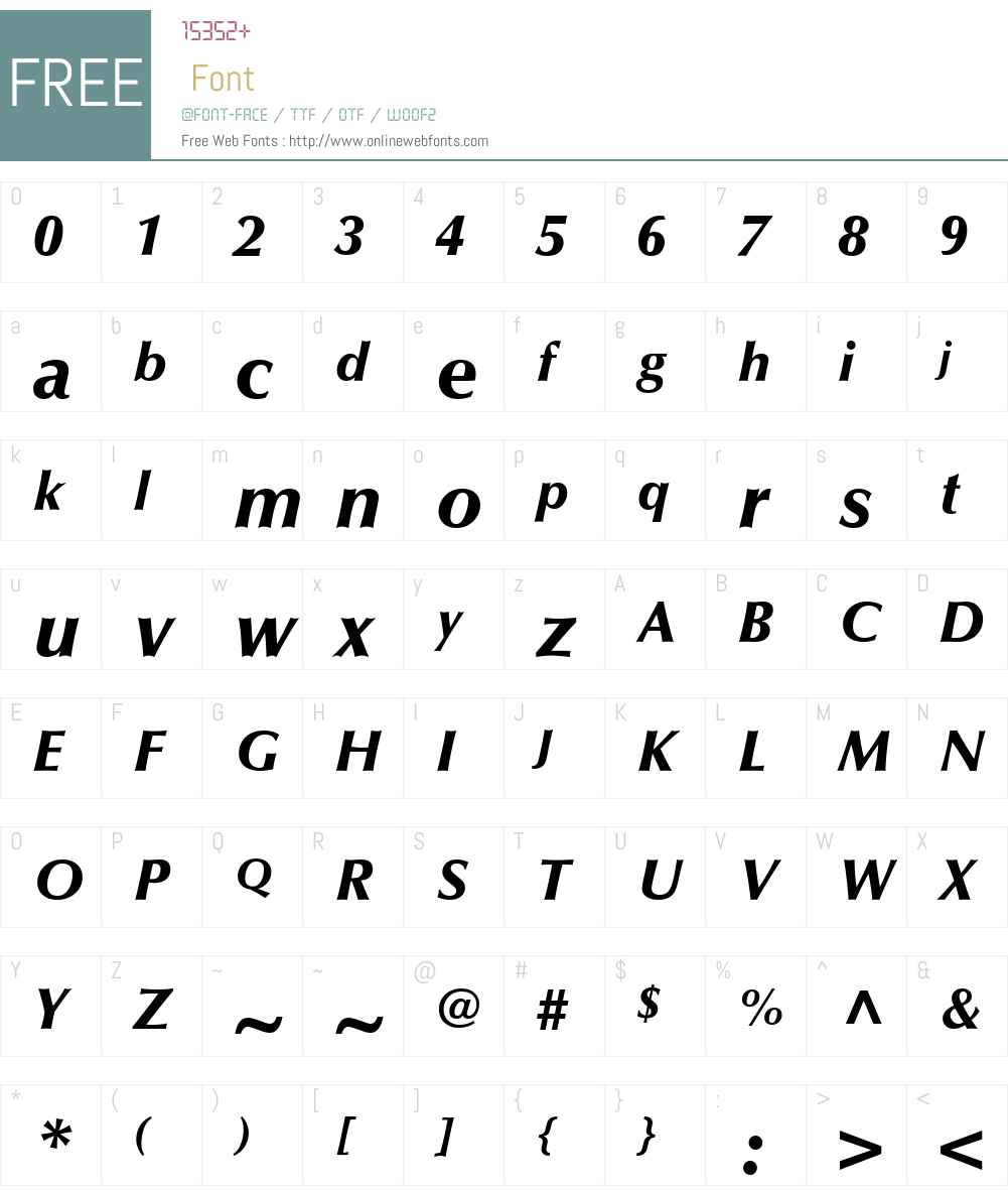 Optima LT Medium Font Screenshots