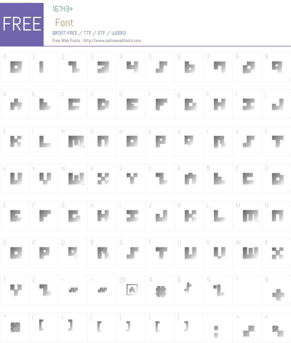 MKSquaresHatch-Heavy Font Screenshots