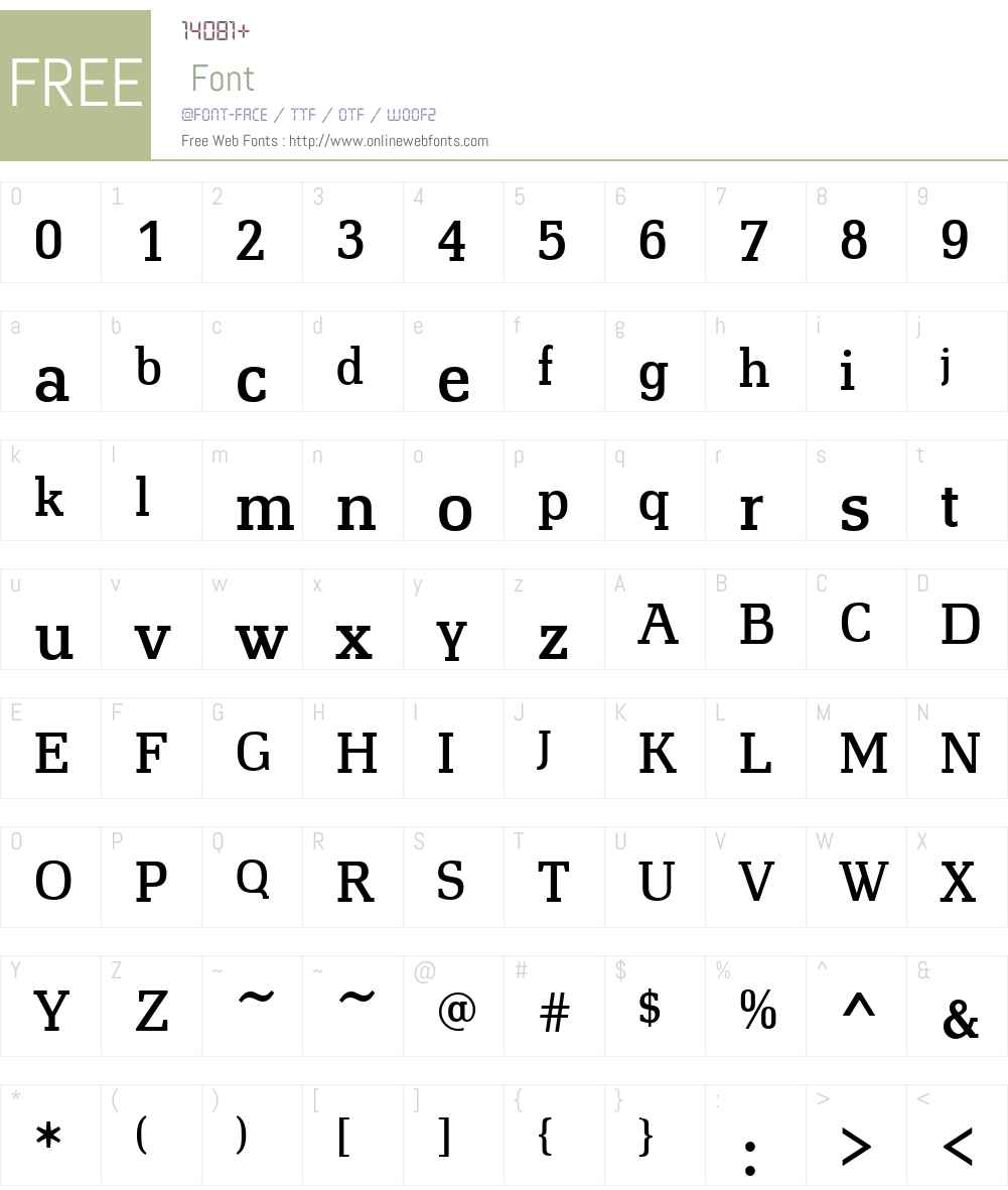 Technotyp Font Screenshots