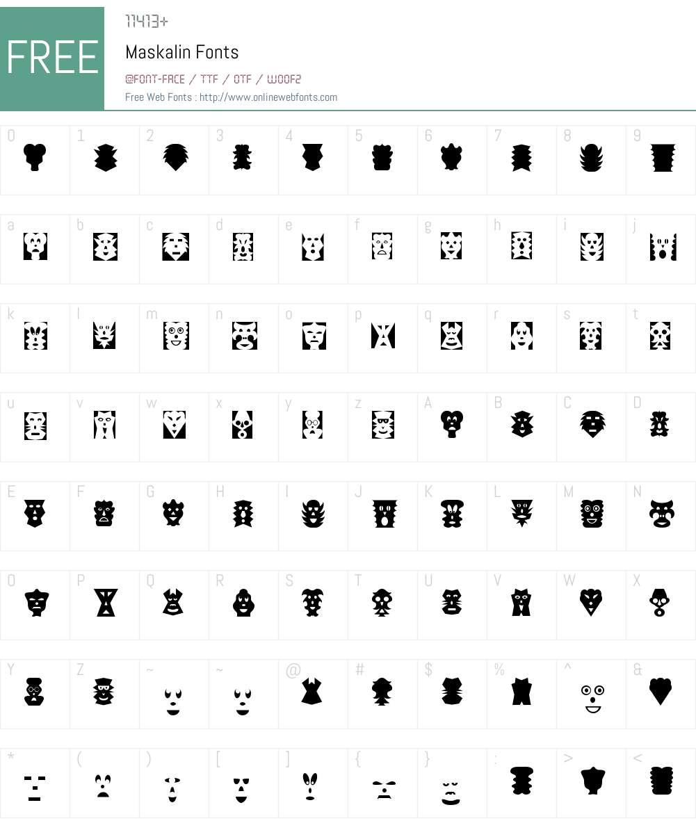 Maskalin Font Screenshots