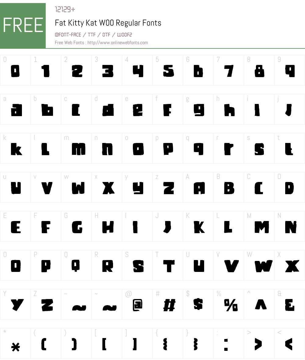 FatKittyKatW00-Regular Font Screenshots