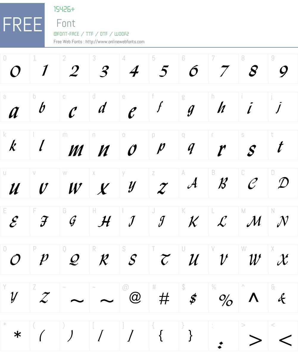Monotype Lydian Font Screenshots