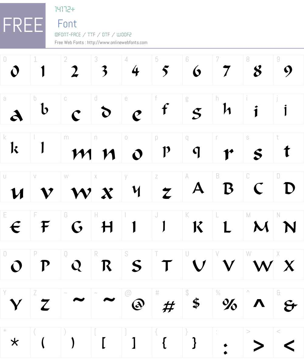 OndineEF Font Screenshots