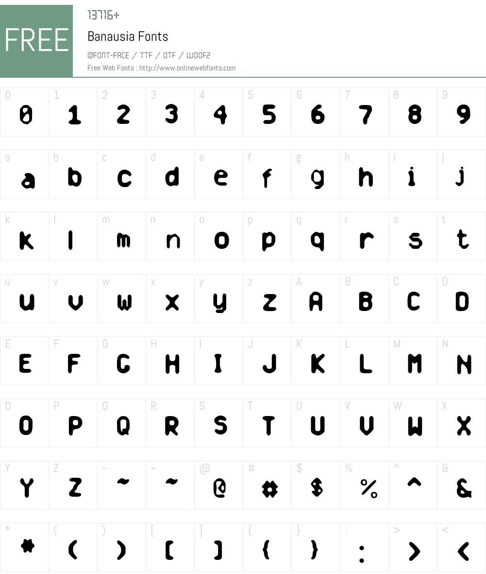 Banausia Font Screenshots