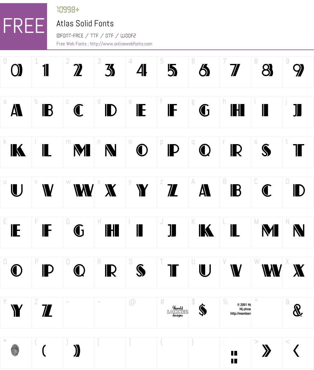 Atlas Font Screenshots