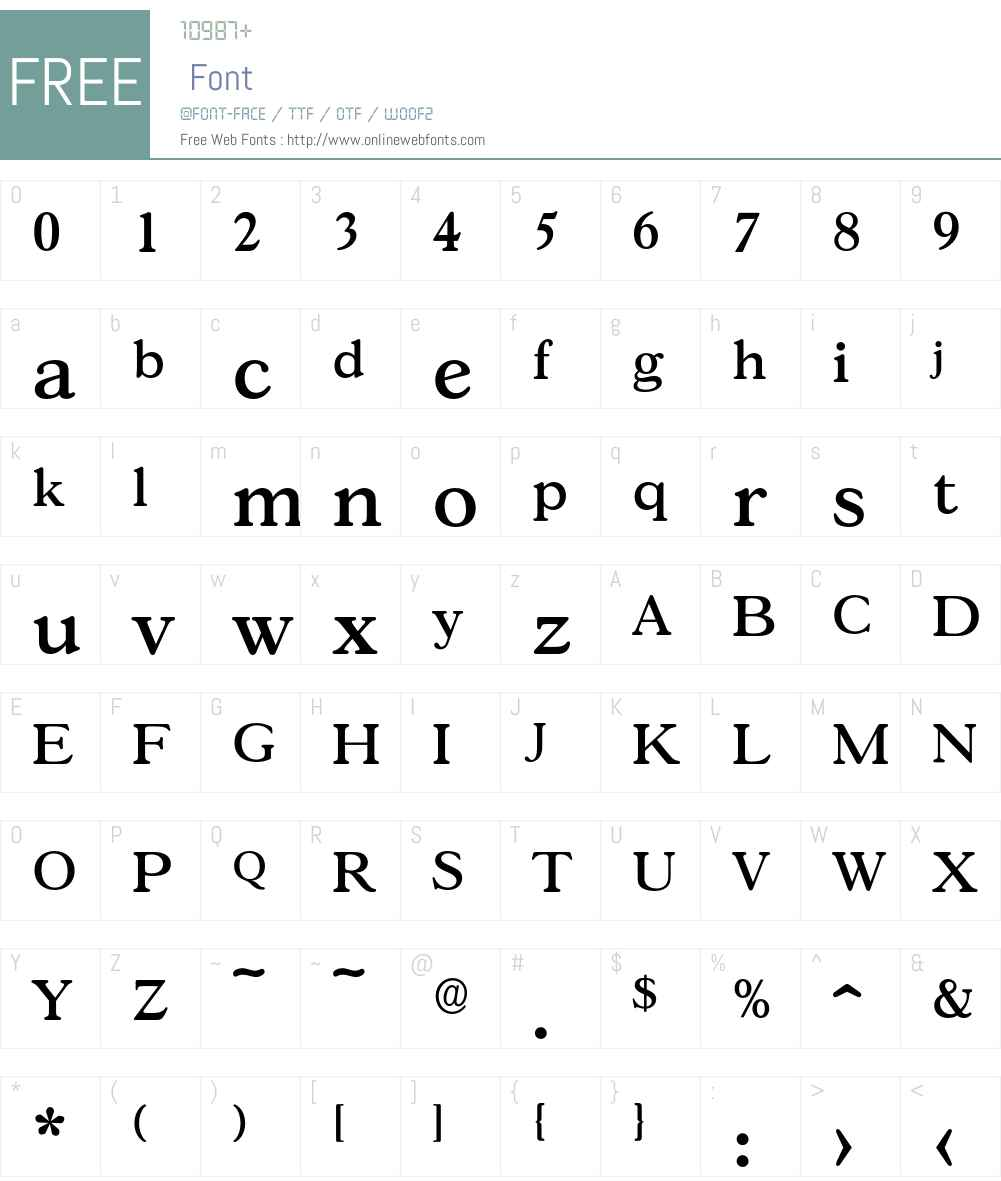 Gascogne-Medium Font Screenshots